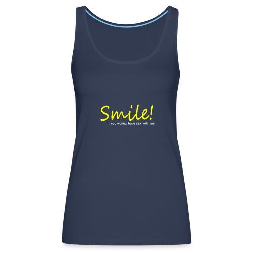 Smile for Sex - Women's Premium Tank Top
