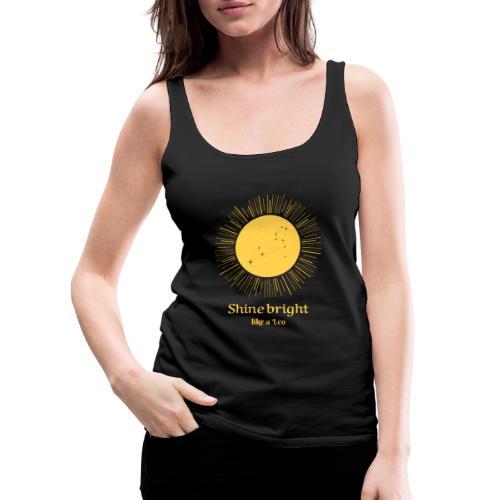 leo zodiac t shirt design maker 1426c - Dame Premium tanktop