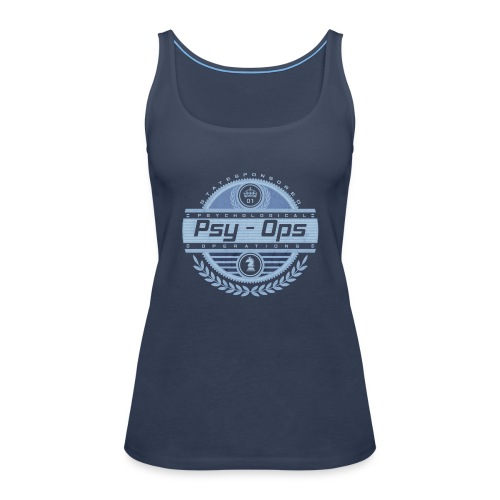 PSYCHOLOGICAL OPERATIONS BLUE - Women's Premium Tank Top