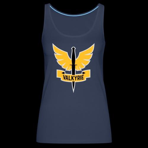 Yellow Valkyrie Logo - Women's Premium Tank Top