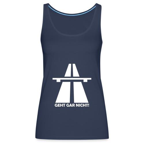 Autobahn-Zitat - Frauen Premium Tank Top