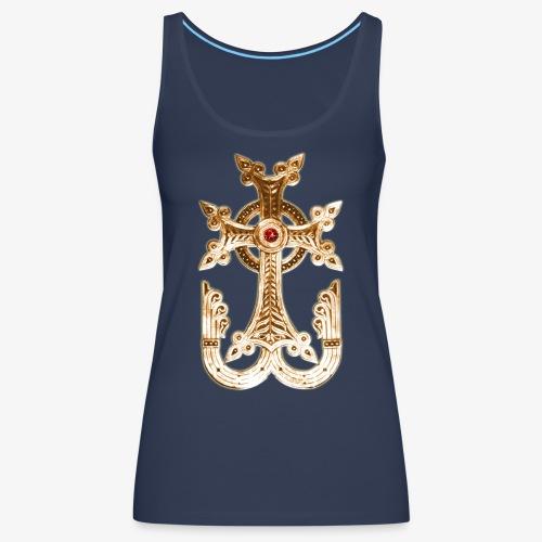 Armenisches Kreuz / Armenian Cross Gold Metallic - Frauen Premium Tank Top