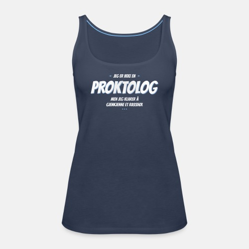 Jeg er ikke en proktolog, men jeg klarer ...