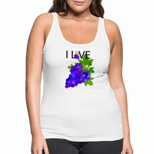 Blue Grape Love - Frauen Premium Tank Top