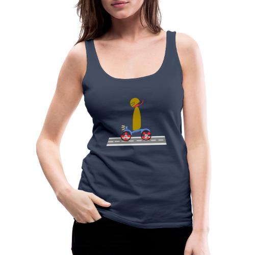 Happy Rider Cipotescü - Camiseta de tirantes premium mujer