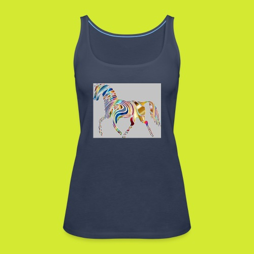 Psychedelic Animal Equine Art Horse Abstract 33226 - Frauen Premium Tank Top