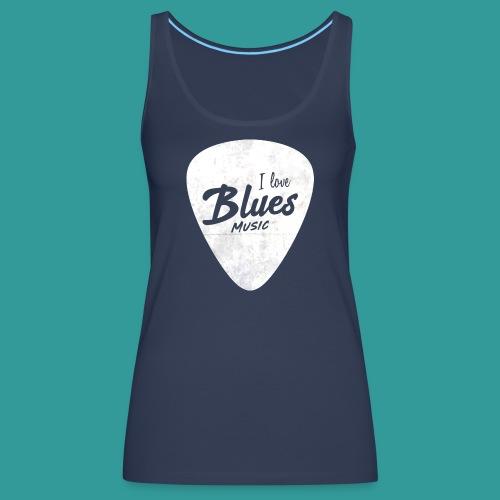 I Love Blues Music Guitar Pick - Women's Premium Tank Top