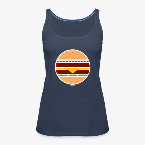 Circle Burger - Canotta premium da donna