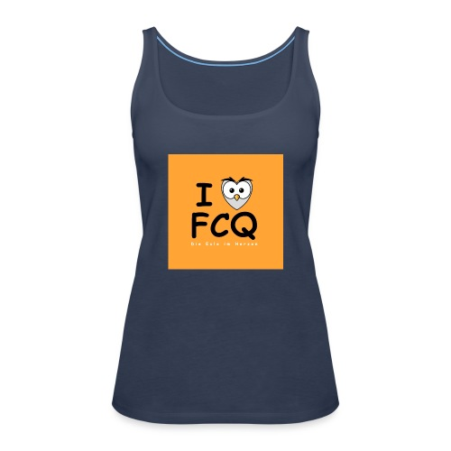 I Love FCQ button orange - Frauen Premium Tank Top