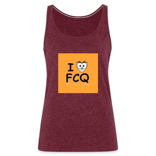 I Love FCQ button orange - Frauen Premium Tank Top