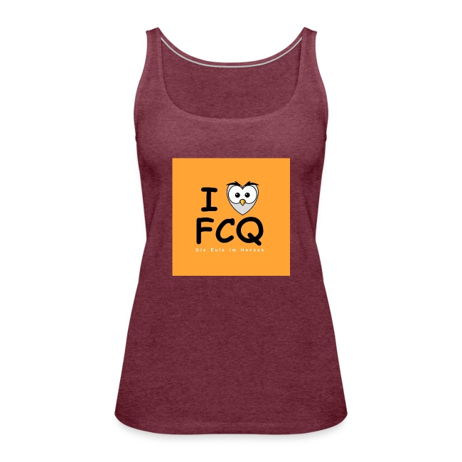 I Love FCQ button orange