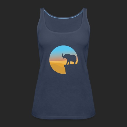 Sunset Elephant - Women's Premium Tank Top