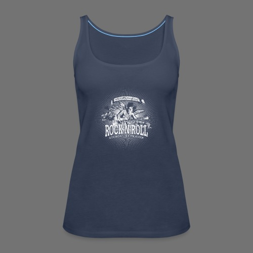 Rock 'n' Roll - Sounds Like Heaven (hvid) - Dame Premium tanktop