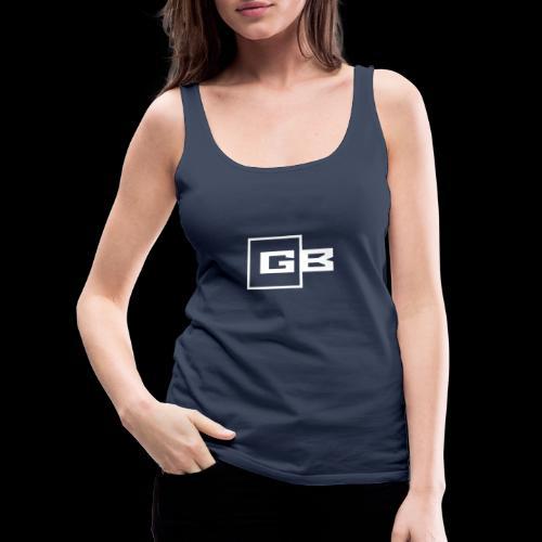Valkoinen Gymbox logo - Naisten premium hihaton toppi