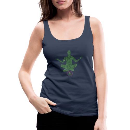 Meditation Good Vibes Green - Débardeur Premium Femme
