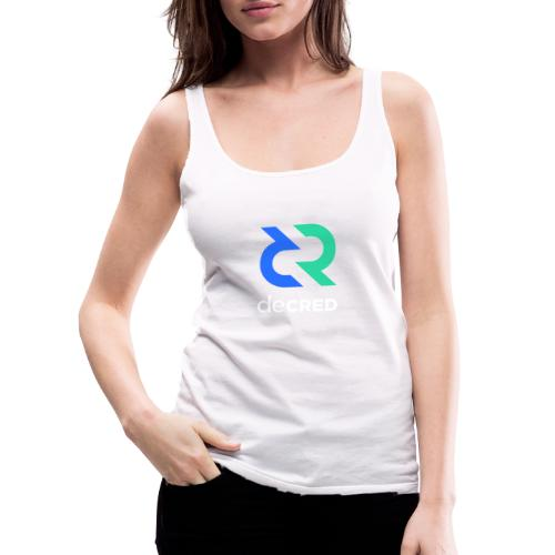 Decred logo vertical color white - Vrouwen Premium tank top