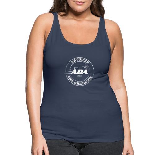 ADA DRAG Logo Groot Wit - Vrouwen Premium tank top