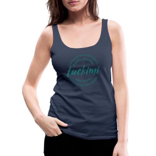 Luckimi logo circle - Women's Premium Tank Top