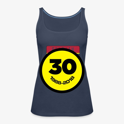30 Jaar Belgian New Beat Smiley - Vrouwen Premium tank top