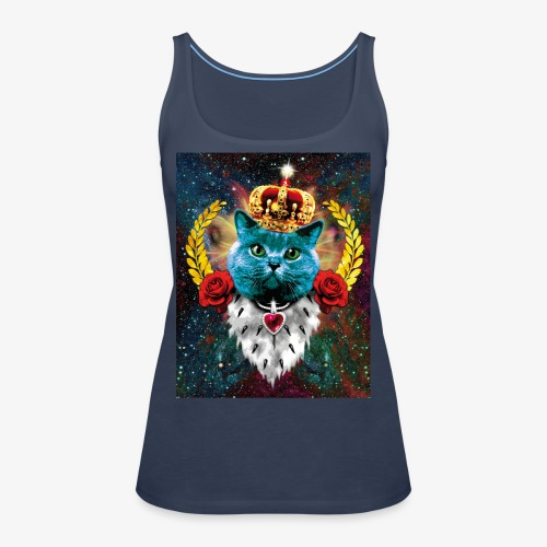 01 Blue Cat King Katze Queen Rosen - Frauen Premium Tank Top