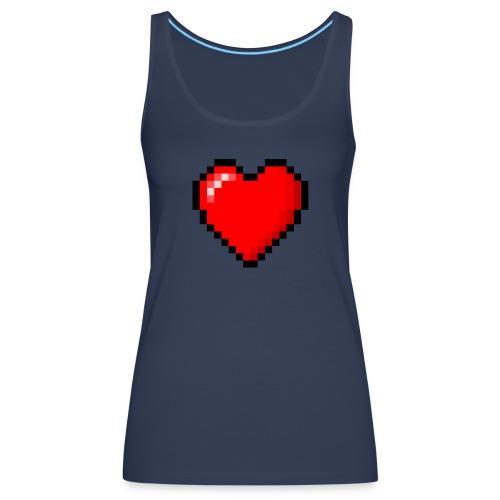 8bit heart - Canotta premium da donna