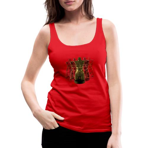 Lady Rosso Corsa and Her Dancers (gold) - Dame Premium tanktop