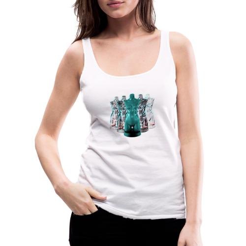 Lady Rosso Corsa and Her Dancers (turquoise) - Dame Premium tanktop