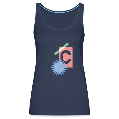 Monogram Letter C Graphic Design - Frauen Premium Tank Top