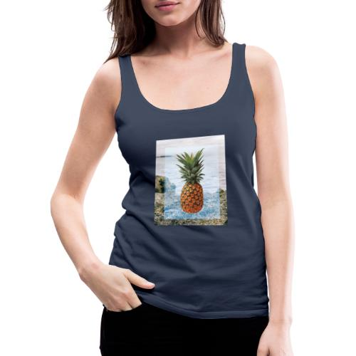 Alone wit pineapple - Frauen Premium Tank Top