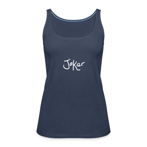 Joker Signature White - Women's Premium Tank Top