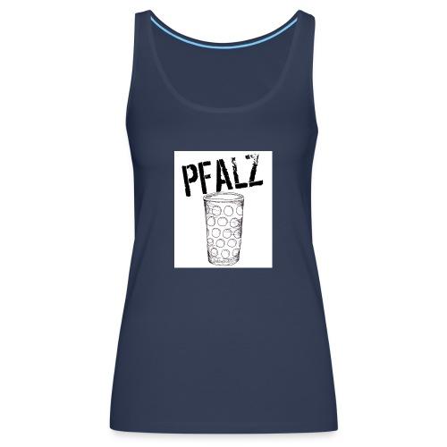 Pfalzshirt mit Dubbeglas, weiß - Frauen Premium Tank Top
