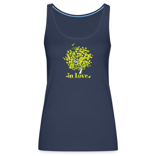 Love Liebe Amor Vogel Herz Baum Valentin - Women's Premium Tank Top