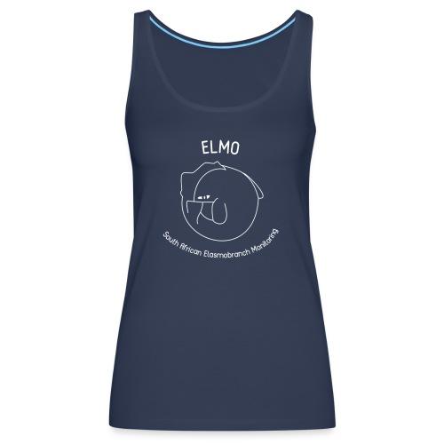 elmo logo large white - Women's Premium Tank Top
