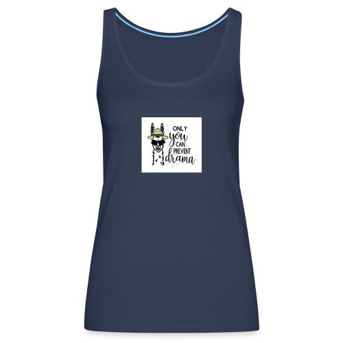 Lama Drama - Vrouwen Premium tank top