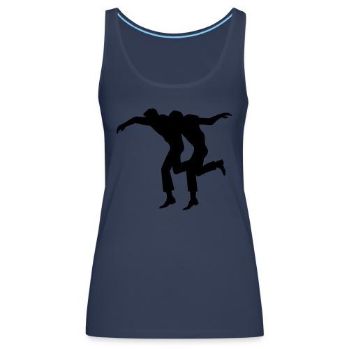 Greek syrtaki dancers - Women's Premium Tank Top