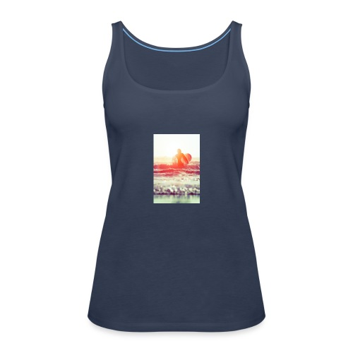 sunset surf jpg - Women's Premium Tank Top