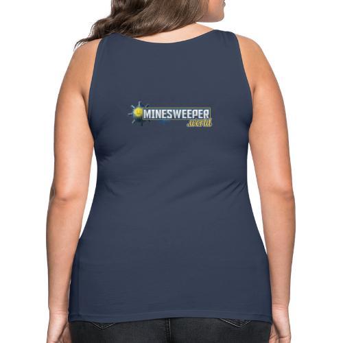 Minesweeper.World Logo mit Icon // 2 Druckbereiche - Frauen Premium Tank Top