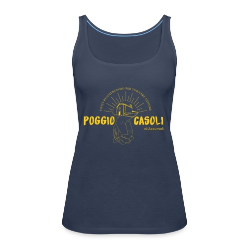 Poggio Casoli_Istituzionale_Giallo - Canotta premium da donna