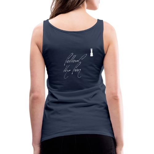 Follow the fun white rabbit Merry Christmas - Women's Premium Tank Top