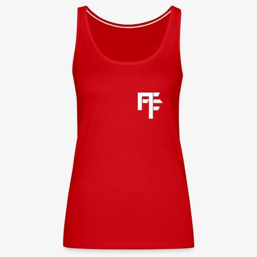 Petit Logo Teamfitfrance Blanc - Débardeur Premium Femme