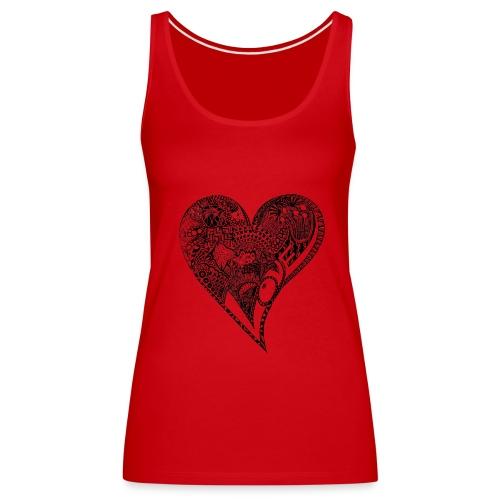 Heart black - Frauen Premium Tank Top