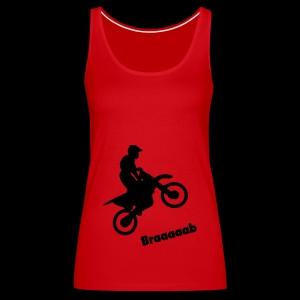 Motorrad im Wheelie - Frauen Premium Tank Top