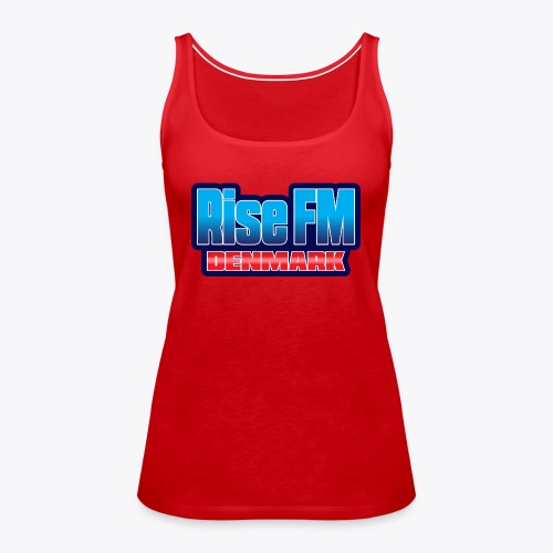 Rise FM Denmark Text Only Logo - Dame Premium tanktop
