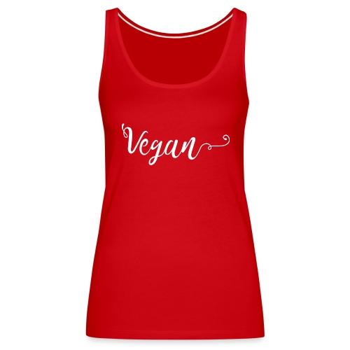 Vegan logo blanc - Débardeur Premium Femme