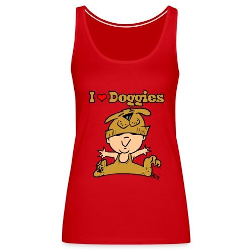 baby i love doggies color - Vrouwen Premium tank top