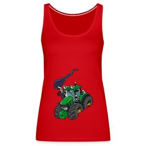 GREEN TRACTOR - Vrouwen Premium tank top