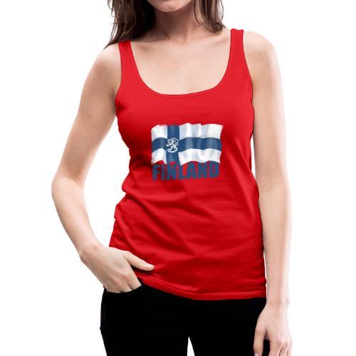 01-SUOMI LEIJONALIPPU - FINLAND LION FLAG - Naisten premium hihaton toppi