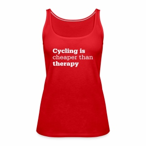 Cycling is therapy - Frauen Premium Tank Top