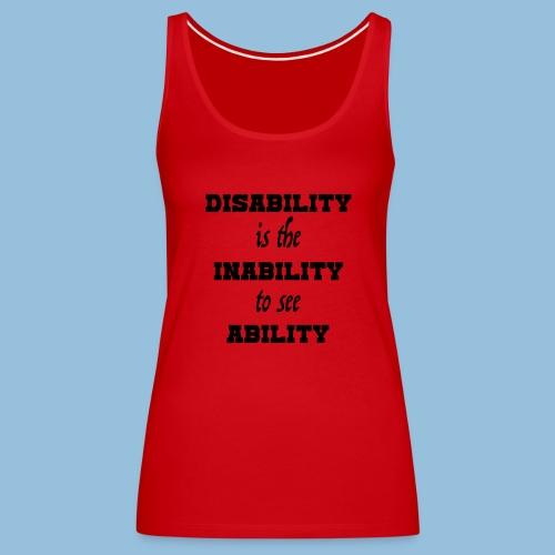 Ability4 - Vrouwen Premium tank top