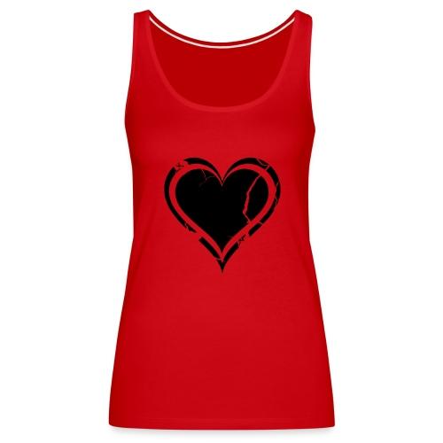 Heart - Naisten premium hihaton toppi